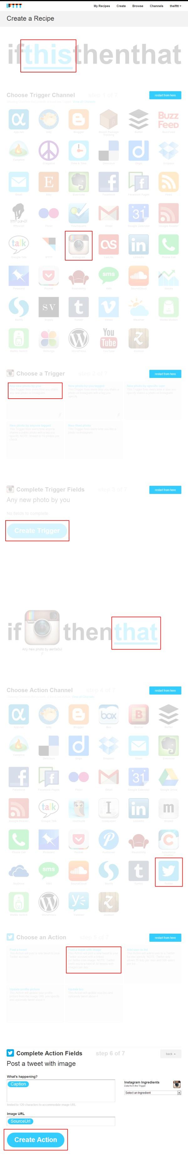 IFTTT - Instagram to Twitter Tutorial